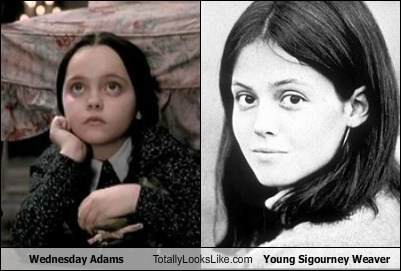 Wednesday Addams (Christina Ricci) Totally Looks Like Young Sigourney Weaver