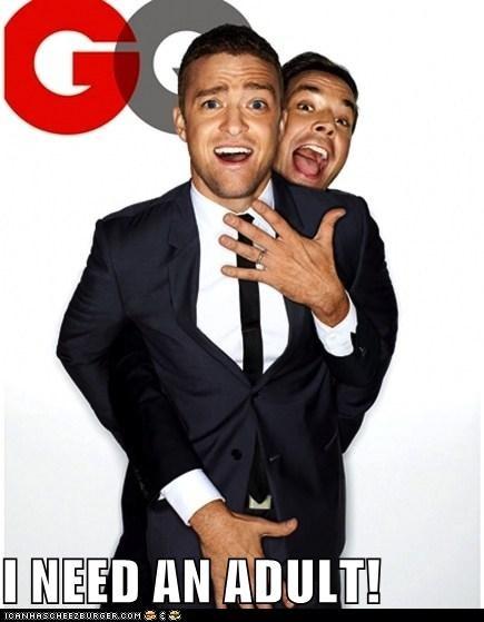 adults,gay,help,homoerotic,jimmy fallon,Justin Timberlake,touching