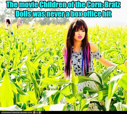 singers,box office,bratz,children of the corn,corn,corn fields,dolls,Selena Gomez,sequels