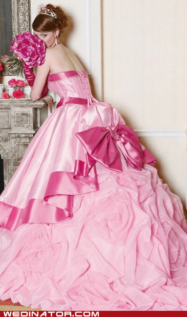 Barbie,bridal couture,bridal fashion,funny wedding photos,pink,wedding dress,wedding gown