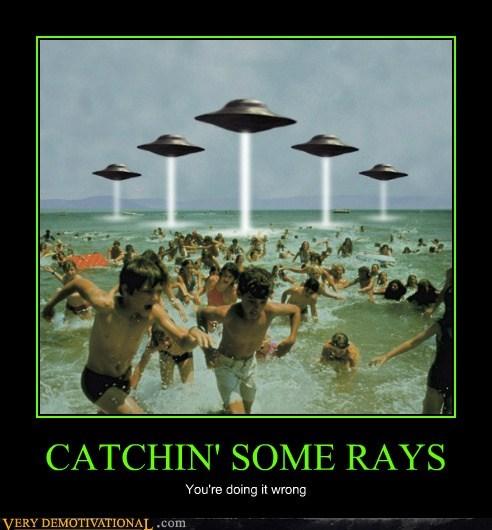 Aliens,hilarious,ray guns,tanning