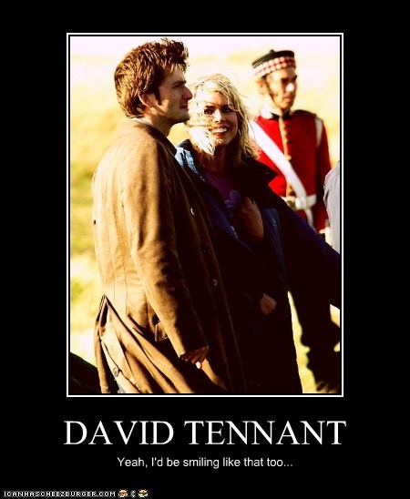 billie piper,David Tennant,doctor who,rose tyler,smiling,the doctor