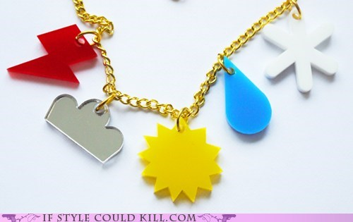 Retro Weather Symbol Necklace
