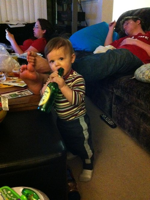 alcohol,beer,drinking,Parenting Fail,sleep,toddler,whoops