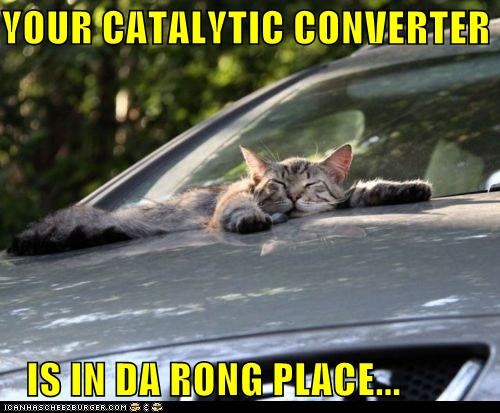 YOUR CATALYTIC CONVERTER     IS IN DA RONG PLACE...