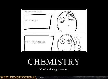 banana,Chemistry,hilarious,Rage Comics,wrong,wtf