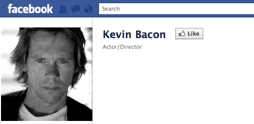 Facebook Kevin Bacon Study of the Day