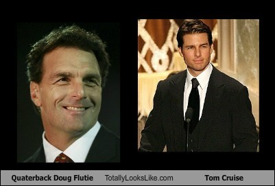 Quaterback Doug Flutie Totally Looks Like Tom Cruise