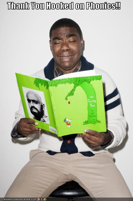 comedians,crying,hooked on phonics,reading,the giving tree,Tracy Morgan