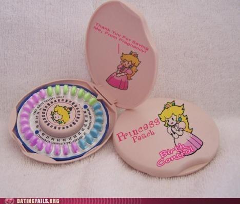 birth controll,mario,peach,pregnancy,princess peach,the pill,video games,We Are Dating