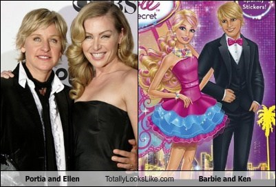 Portia and Ellen Totally Looks Like Barbie and Ken