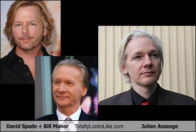 David Spade+Bill Maher Totally Looks Like Julian Assange