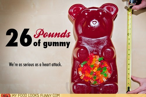 giant,gummy bear,huge,omg,srsly,wtf