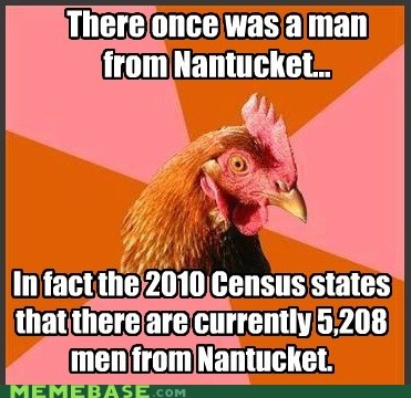 Anti-Joke Chicken: Very Impressive, Nantucket
