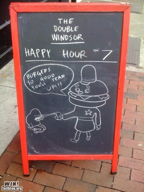 Timely Chalk Sign WIN