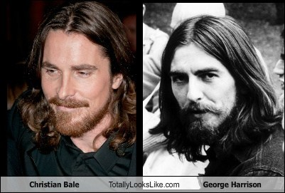 Christian Bale Totally Looks Like George Harrison