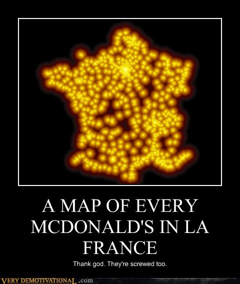 A MAP OF EVERY MCDONALD'S IN LA FRANCE