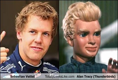 Sebastian Vettel Totally Looks Like Alan Tracy (Thunderbirds)