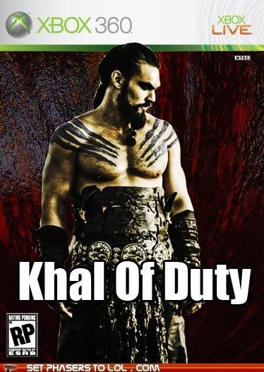 call of duty,Game of Thrones,Jason Momoa,Khal Drogo,puns,video games,xbox 360