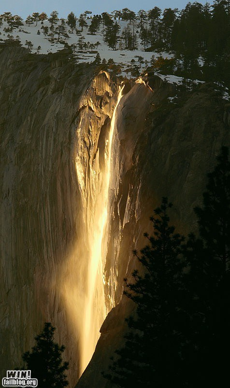 Mother Nature FTW: Horsetail Falls WIN