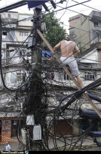 electrical fire,overkill,tax dollars at work,wires