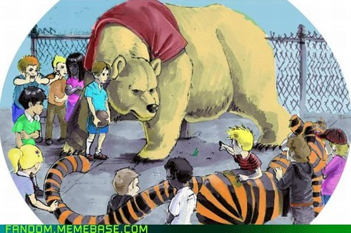 best of week,calvin and hobbes,FanArt,fight,winnie the pooh