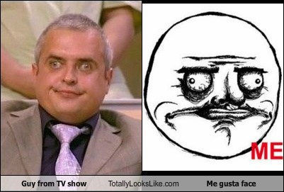 Guy from TV Show Totally Looks Like Me Gusta Face