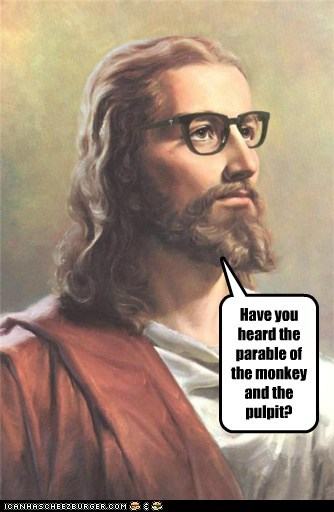 Hipster Jesus preaching things you've probably never heard about