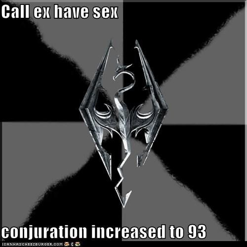 Call ex have sex  conjuration increased to 93