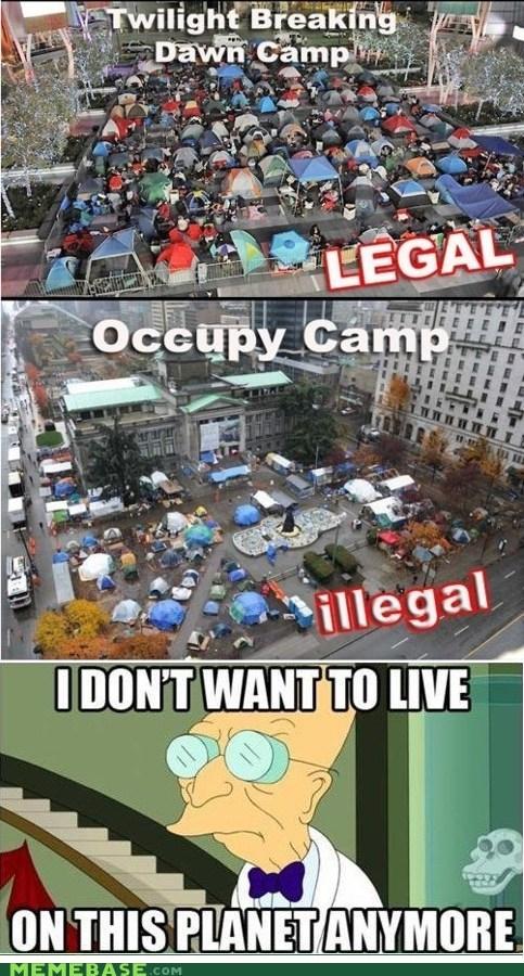 best of week,breaking dawn,camp,legal,Occupy Wall Street,twilight