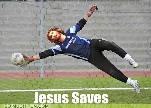double meaning,football,Hall of Fame,jesus,literalism,save,saves,soccer