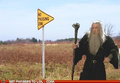 gandalf,ian mckellen,lotr,road sign,you shall not pass