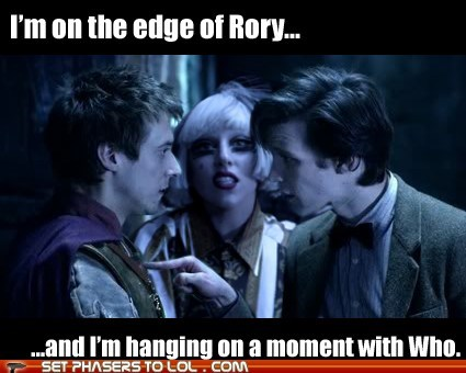 arthur darvill,doctor who,edge of glory,lady gaga,Matt Smith,rory williams,the doctor