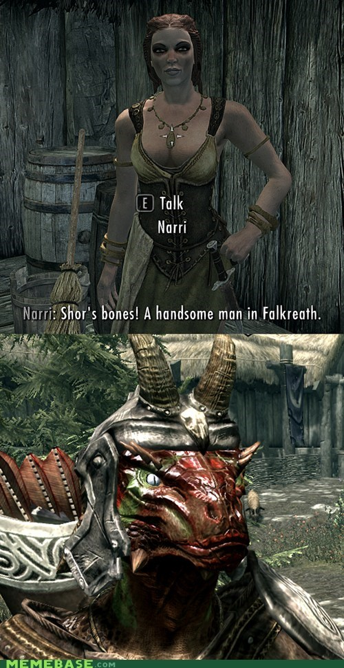 falkreath,frankie bones,gross,handsome,Memes,shors,Skyrim,the real bones is much be,the real bones is much better,video games