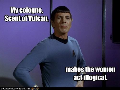 cologne,illogical,Leonard Nimoy,Spock,Star Trek,Vulcan,women