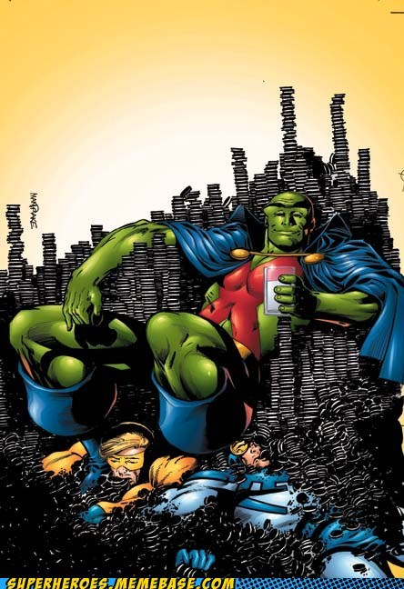 blue beetle,martian manhunter,Oreos,Straight off the Page