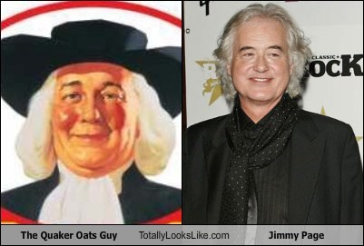 The Quaker Oats Guy Totally Looks Like Jimmy Page