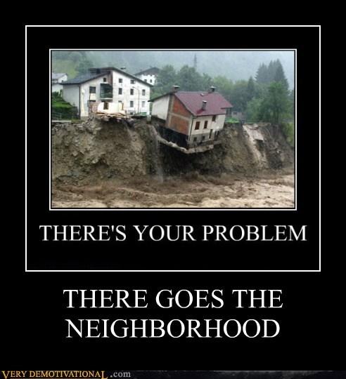 cliff,erosion,falling,hilarious,house,neighborhood