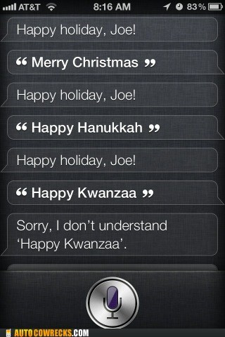 Siri Is Racist