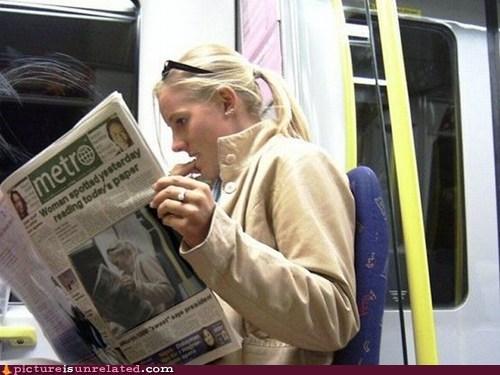 Yo Dawg, I Heard You Like Reading the Paper