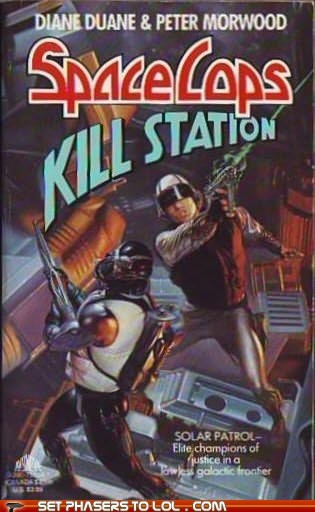WTF Sci-Fi Book Covers: Space Cops Kill Station