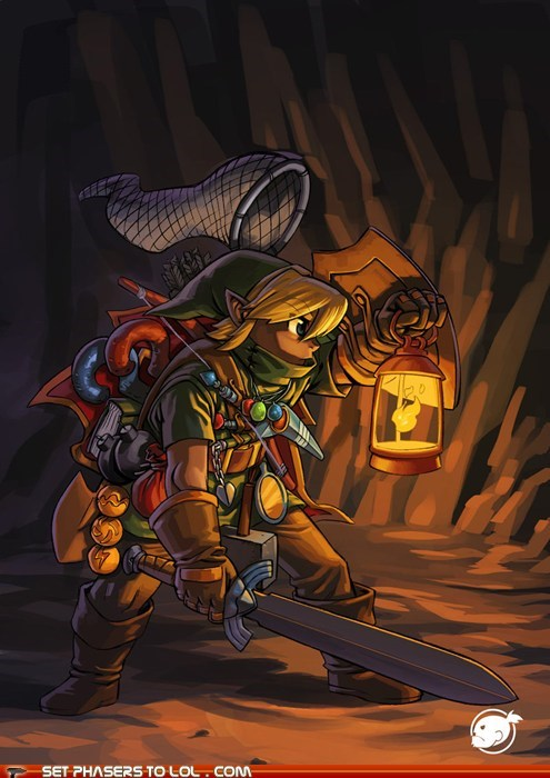 Link is Over-Encumbered and Cannot Run