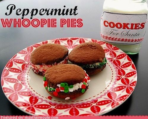 cookies,epicute,peppermint,santa,whoopie pies