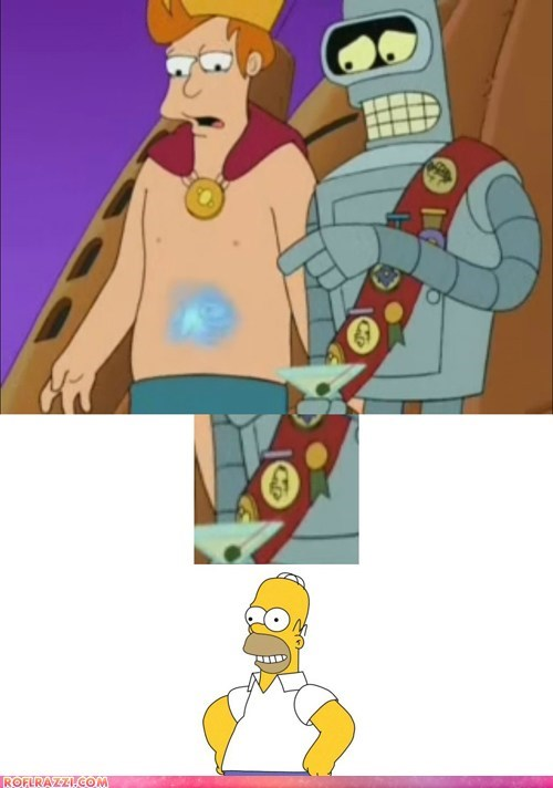 animation,bender,fry,funny,futurama,the simpsons