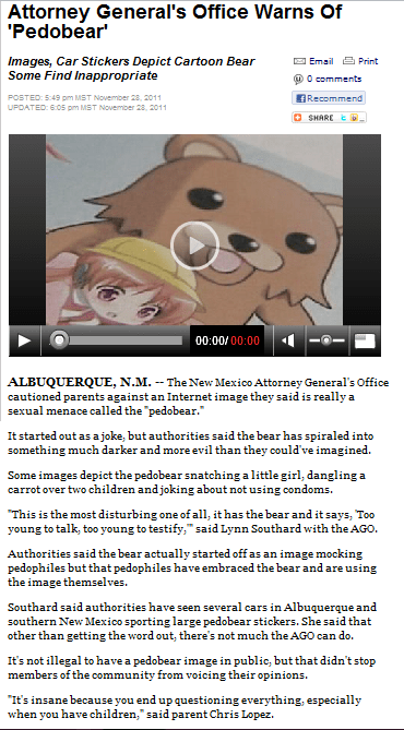 Probably Bad News: To Catch A Pedobear