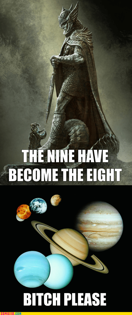 planets,pluto,Skyrim,the eight,the nine,video games