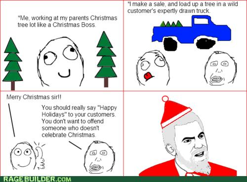 best of week,christmas,christmas tree,happy holidays,holidays,Rage Comics
