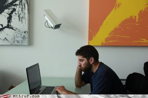 security camera,somebodys-watching-me,strict office policy