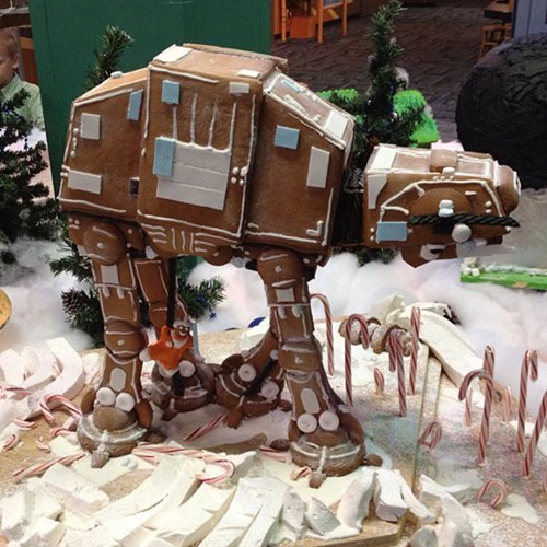 Edible Gingerbread AT-AT of the Day