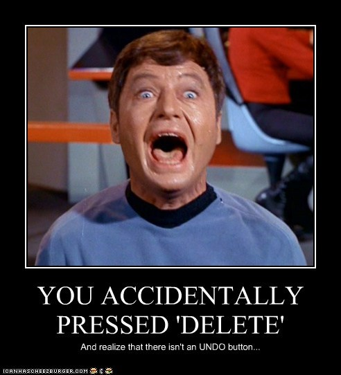 DeForest Kelley,delete,McCoy,paper,Star Trek,undo,writing